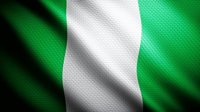 nigeria flagge 4k - fahnenstange stock-videos und b-roll-filmmaterial