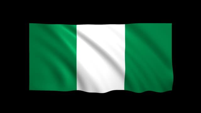 stockvideo's en b-roll-footage met nigeria vlag loopbare alpha inbegrepen - stock video - vlag