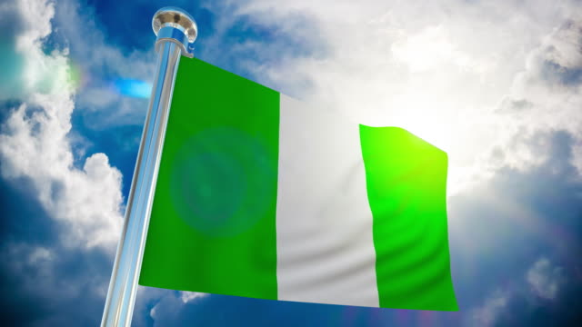 4k - nigeria flag | loopable stock video - nigerian flag stock videos & royalty-free footage