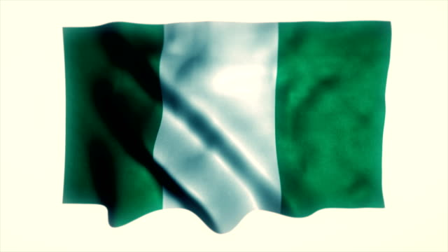 nigeria flag, nigerian flag - nigerian flag stock videos & royalty-free footage