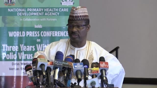 stockvideo's en b-roll-footage met nigeria hails a historic milestone in the fight against polio as it marks three years since the last recorded case in a key step towards eradicating... - polio