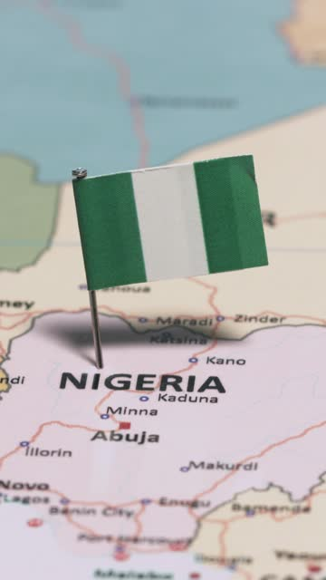nigeria with national flag vertical video - flag stock videos & royalty-free footage
