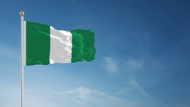 4k nigerian flag - loopable - nigerian flag stock videos & royalty-free footage
