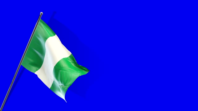 nigerian flag rising