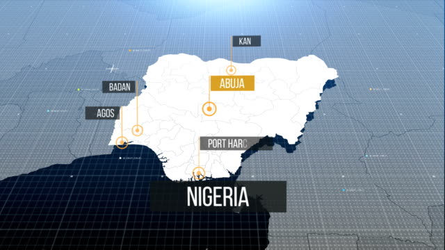 nigerian map with label then with out label - nigeria stock videos and b-roll footage