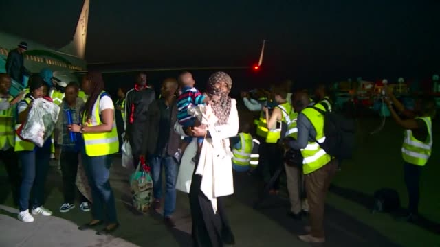 Nigerian migrants express relief as they arrive home from Libya describing the hell of harsh conditions in detention camps where they had been held