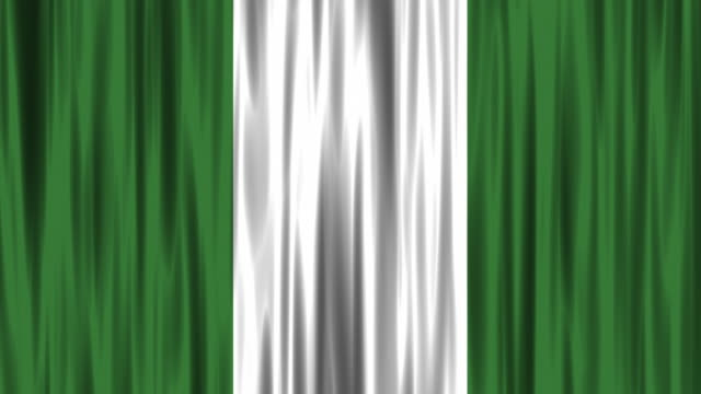 nigerian national flag (loopable) - nigerian flag stock videos & royalty-free footage