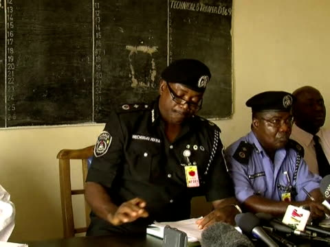 a nigerian state police chief wednesday revised the death toll from weekend sectarian massacres from 500 to 109 saying an earlier toll by government... - jos nigeria stock videos & royalty-free footage