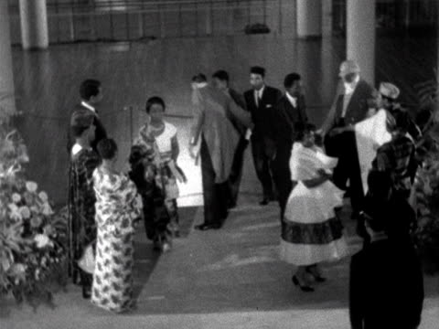 Nigerians arrive at the Royal Albert Hall to celebrate gaining independence from the British