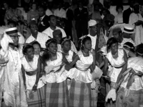 nigerians celebrate gaining independence from the british by holding a party at the royal festival hall - ロイヤルフェスティバルホール点の映像素材/bロール