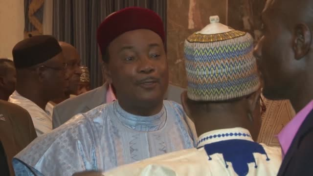 stockvideo's en b-roll-footage met nigers president mahamadou issoufou secures 92 percent of the vote in a controversial run off ballot boycotted by the opposition according to... - clean