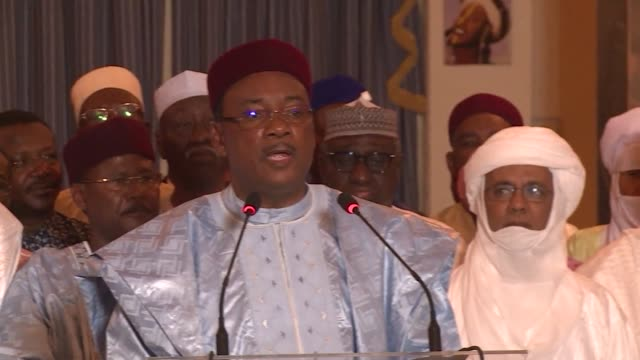 Nigers President Mahamadou Issoufou took a clear lead Friday in the uranium rich African nations presidential election but will face a run off...