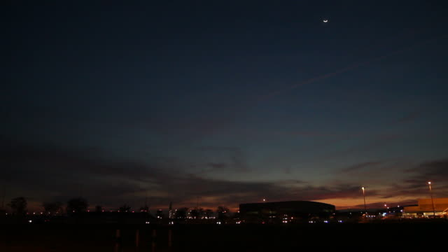night airplane landing - aerospace stock videos & royalty-free footage