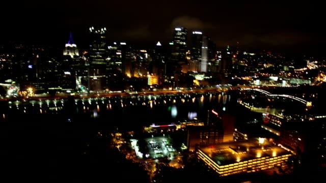 Night american city panorama cityscape