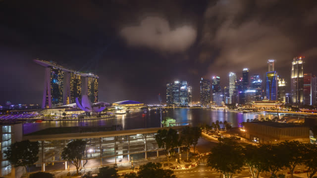 Night at Singapore Marina Bay