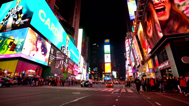night at time square - digital signage stock videos and b-roll footage