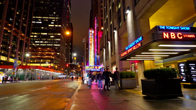 night avenue, nbc - radio city music hall stock videos & royalty-free footage