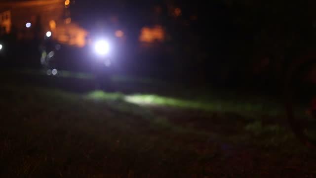 Night bicycle racers in FullHD.