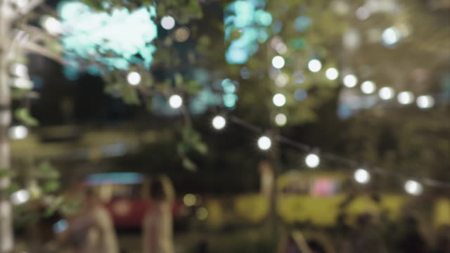 night bokeh light background - image focus technique stock videos and b-roll footage