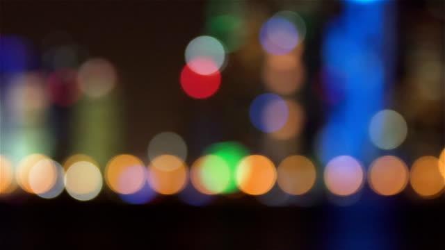 Leichte Nacht bokeh-Hintergrund