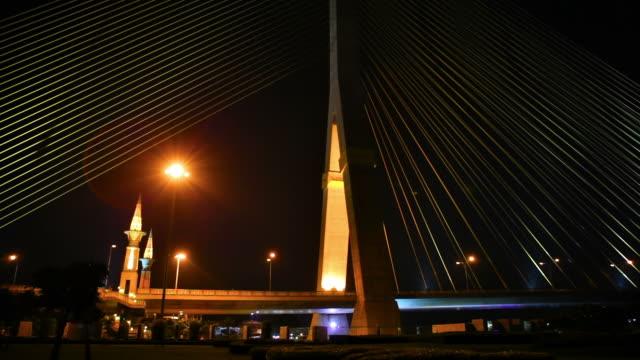 night bridge - mindre än 10 sekunder bildbanksvideor och videomaterial från bakom kulisserna