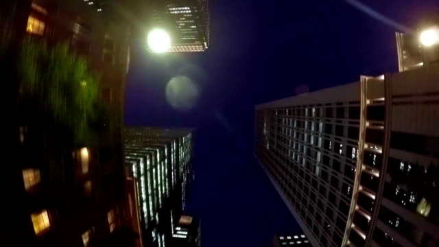 night building -  look up at the sky - plusphoto stock videos & royalty-free footage