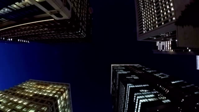 Night building - slow motion