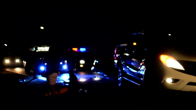 night car crash - arrest stock videos & royalty-free footage