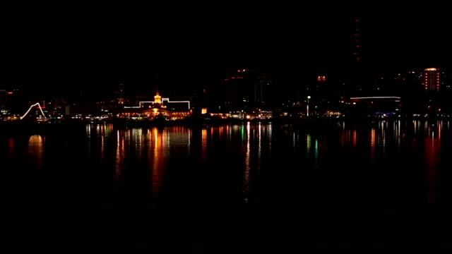 vídeos y material grabado en eventos de stock de noche de la ciudad de sochi-vista desde el mar - sochi