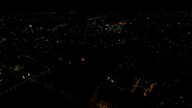 night city scene, aerial view - aircraft point of view stock videos & royalty-free footage