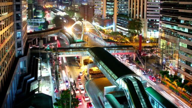 Night City Traffic Time Lapse