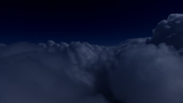 Night clouds and teetering flight