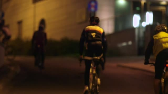 night cycling - warsaw stock videos & royalty-free footage