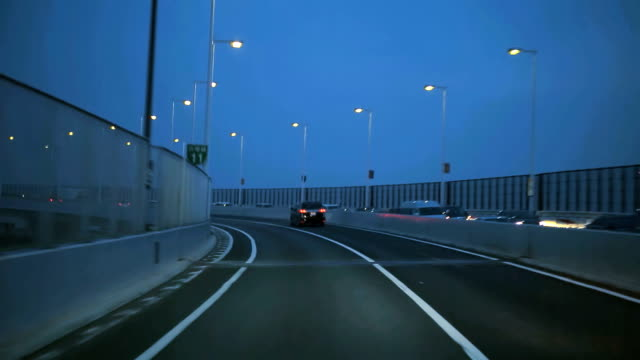 Night drive in Tokyo