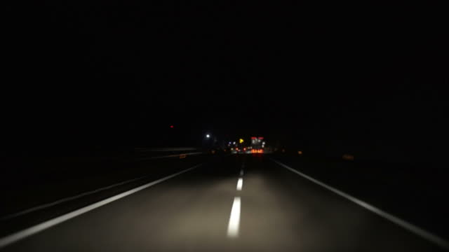 night drive on highway (time lapse) - brennero stock videos and b-roll footage