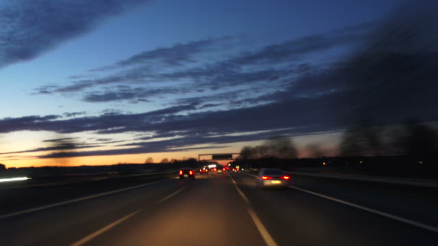POV Night Drive On Highway (Time Lapse)