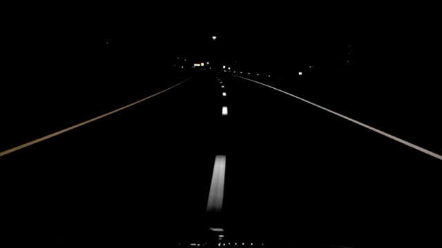 night drive straight lines hd - headlight stock videos & royalty-free footage