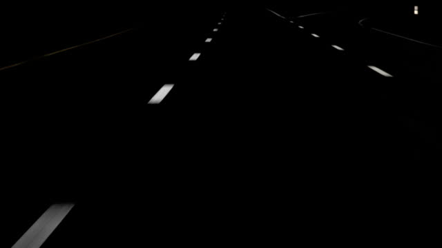 night drive white lines hd - road marking stock videos & royalty-free footage