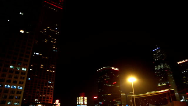 Night driving in Beijing, China (Driving/Process Plates)
