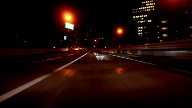 night driving in tokyo -4k- - plusphoto stock videos & royalty-free footage
