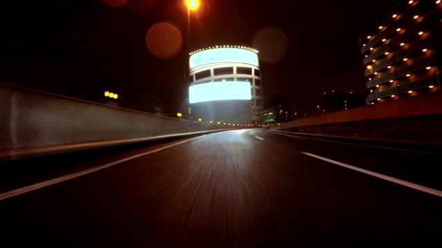 night driving in tokyo -4k- - plusphoto stock videos & royalty-free footage