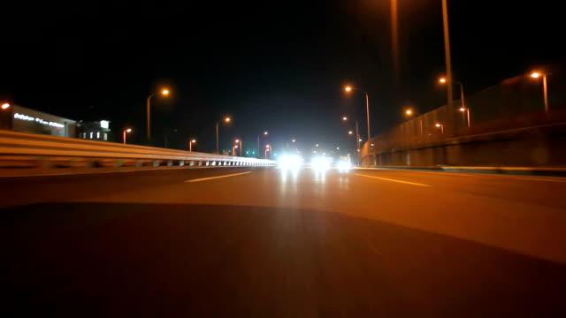 Nacht fahren in Tokio, Rückansicht
