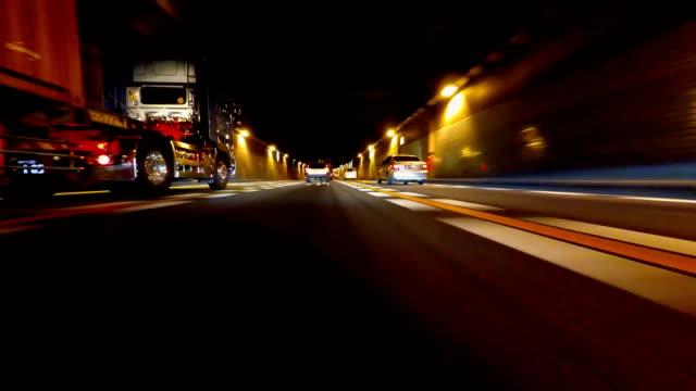 Nacht fahren in Tokio