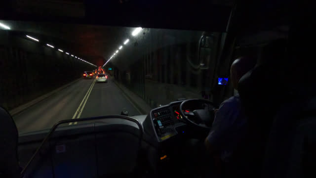 night driving on a1 highway in bus - leicester stock videos & royalty-free footage