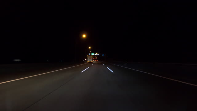 night driving on highway - plusphoto stock videos & royalty-free footage