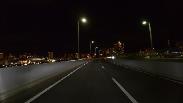 night driving on highway - moving process plate stock videos & royalty-free footage