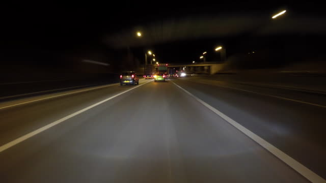 Night Driving Timelapse.