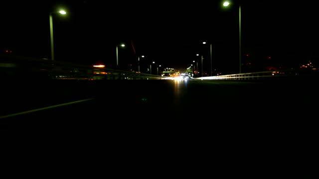 Night driving timelapse,look behind