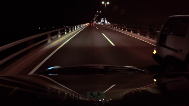 Night driving - Tokyo Gate Bridge -4K-