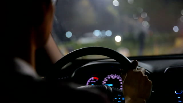 night driving - car interior stock videos & royalty-free footage